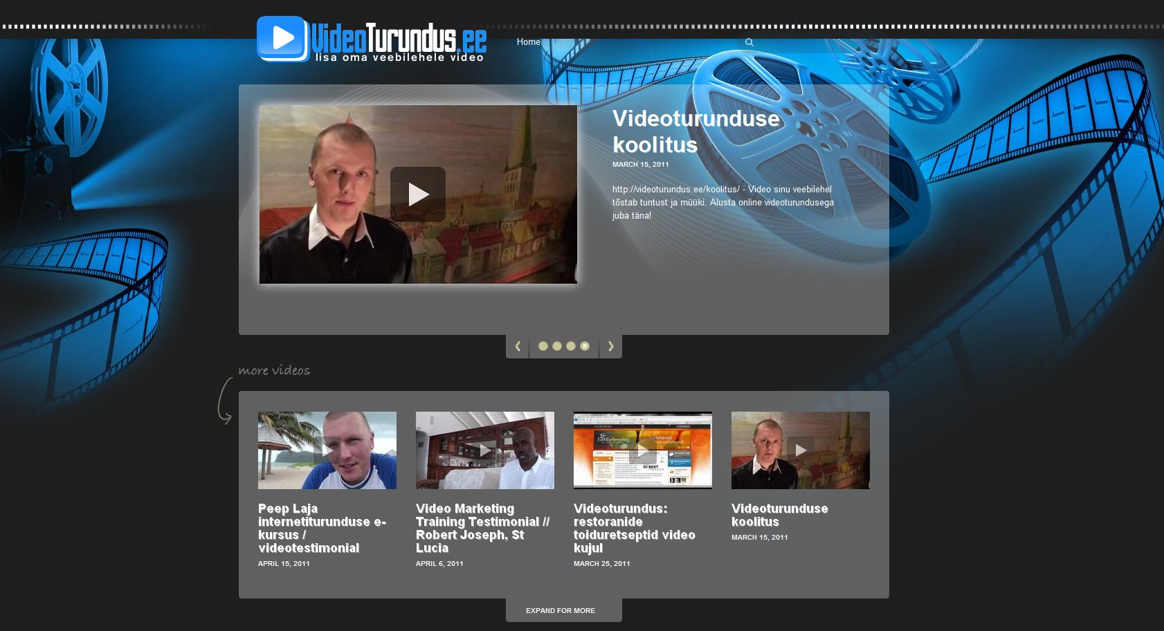 VidCaster video veebileht